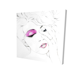 Canvas 24 x 24 - 3D - Pink makeup