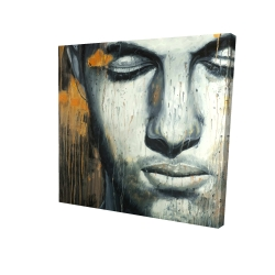 Canvas 24 x 24 - 3D - Abstract man face