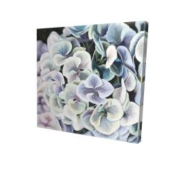 Canvas 24 x 24 - 3D - Purple hydrangea flowers