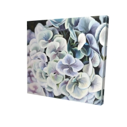 Canvas 24 x 24 - 3D - Colorful hydrangea flowers