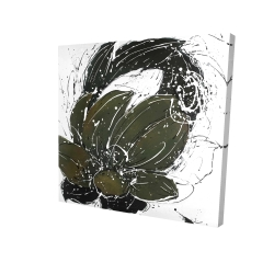 Canvas 24 x 24 - 3D - Abstract flower with paint splash