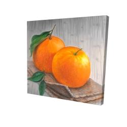 Canvas 24 x 24 - 3D - Two oranges