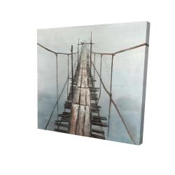 Canvas 24 x 24 - 3D - Old abandoned bridge