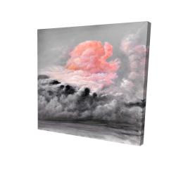 Canvas 24 x 24 - 3D - Pink clouds