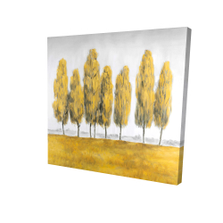 Canvas 24 x 24 - 3D - Abstract yellow trees