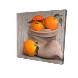 Canvas 24 x 24 - 3D - Bag of oranges