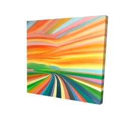 Canvas 24 x 24 - 3D - Colorful road