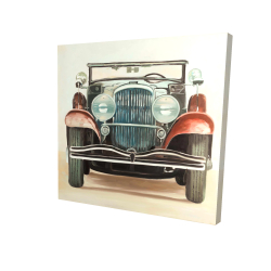 Canvas 24 x 24 - 3D - Old 1920s luxury car