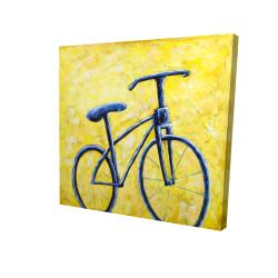 Canvas 24 x 24 - 3D - Blue bike abstract