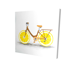 Canvas 24 x 24 - 3D - Lemon wheel bike
