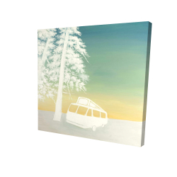 Canvas 36 x 36 - 3D - Camping car