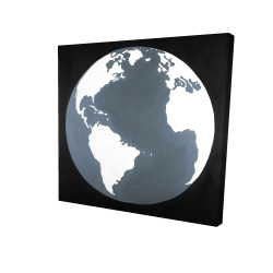 Canvas 24 x 24 - 3D - Earth satellite view