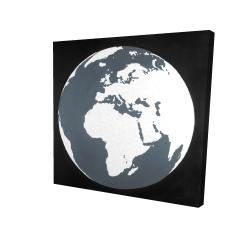 Canvas 24 x 24 - 3D - Earth