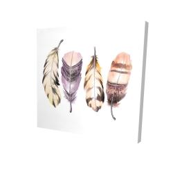 Canvas 24 x 24 - 3D - Purple feather set