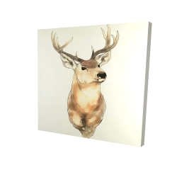 Canvas 24 x 24 - 3D - Deer portrait