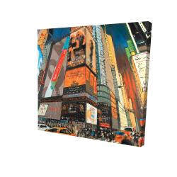 Canvas 24 x 24 - 3D - Illuminated new york city street