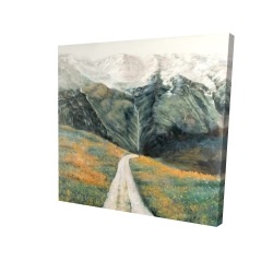 Canvas 24 x 24 - 3D - Mountainous landscape