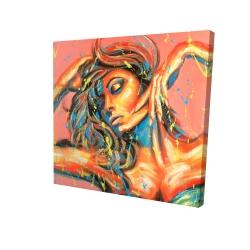 Canvas 24 x 24 - 3D - Dance the colors