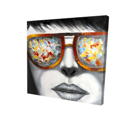 Canvas 36 x 36 - 3D - Colorful sunglasses