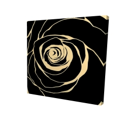 Canvas 36 x 36 - 3D - Black rose