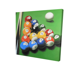 Canvas 24 x 24 - 3D - Pool table with ball formation