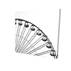 Canvas 24 x 24 - 3D - Quarter of a ferris wheel