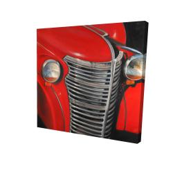 Canvas 24 x 24 - 3D - 50's car grid closeup
