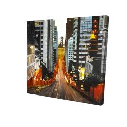 Canvas 24 x 24 - 3D - San francisco by night