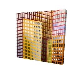 Canvas 24 x 24 - 3D - Skyscrapers