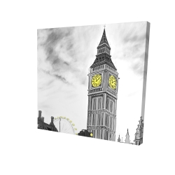 Canvas 24 x 24 - 3D - Outline of big ben in london