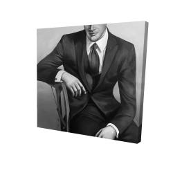 Canvas 24 x 24 - 3D - Businessman