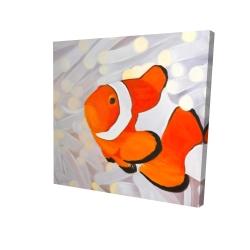 Toile 24 x 24 - 3D - Poissons clown