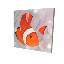 Canvas 24 x 24 - 3D - Clownfish under the sea