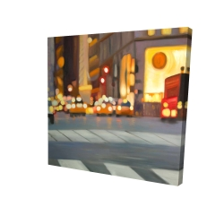 Canvas 24 x 24 - 3D - Blurred view of new york