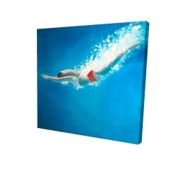 Canvas 24 x 24 - 3D - Diving jump