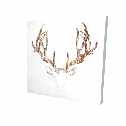 Wood looking deer head