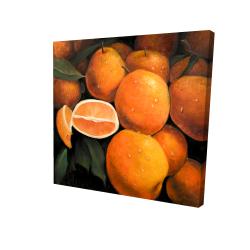 Canvas 24 x 24 - 3D - Fresh oranges