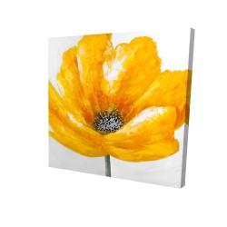 Canvas 24 x 24 - 3D - Beautiful yellow flower