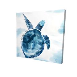 Canvas 24 x 24 - 3D - Blue turtle