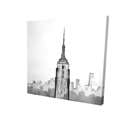 Canvas 24 x 24 - 3D - Empire state building