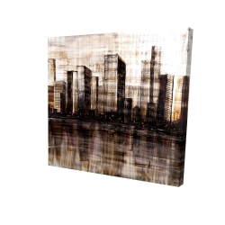 Canvas 24 x 24 - 3D - Sketch of the city