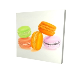 Canvas 24 x 24 - 3D - Small bites of macaroons