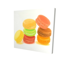 Canvas 24 x 24 - 3D - Delicious macaroons