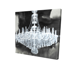 Canvas 24 x 24 - 3D - Glam chandelier