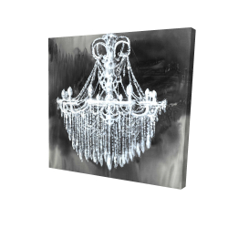 Canvas 24 x 24 - 3D - Big glam chandelier