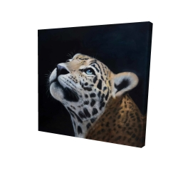 Canvas 24 x 24 - 3D - Realistic leopard face