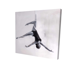 Canvas 24 x 24 - 3D - Dancer on aerial silks