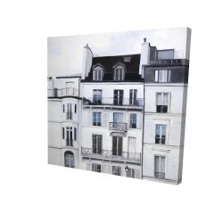 Canvas 24 x 24 - 3D - Buildings along the seine river