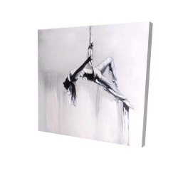 Canvas 24 x 24 - 3D - Dancer on aerial contortion
