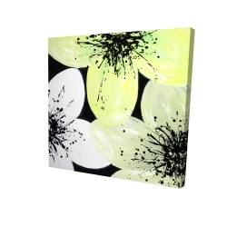 Canvas 24 x 24 - 3D - White & yellow petals